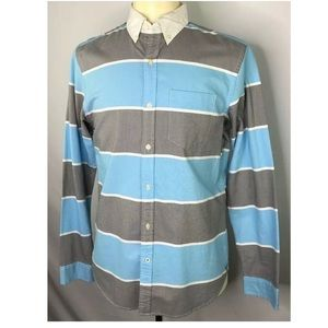 American Eagle Outfitters Blue Gray M LS Shirt